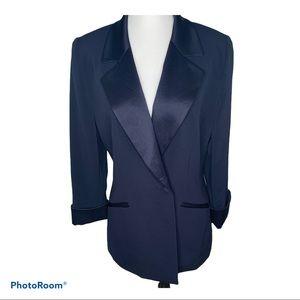 Holt Renfrew Women's Navy Tuxedo Blazer
